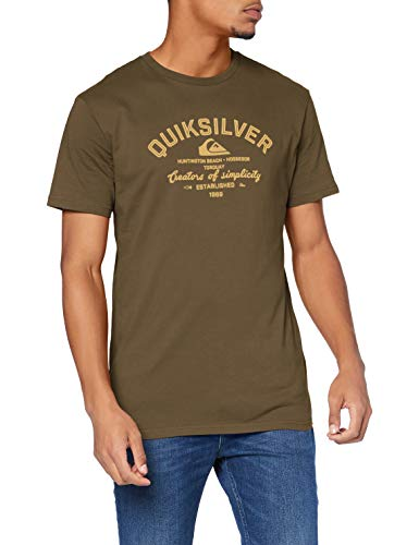 Quiksilver Eye On The Storm - T-shirt pour Homme T-shirt Homme, Vert (kalamata), FR : XL (Taille Fabricant : XL)