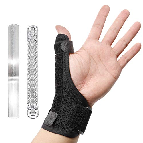 CHUANGLI Thumb Brace, Thumb Splint with Wrist Support Brace, Adjustable Aluminium Support for Pain Relief, Arthritis, Tendonitis, Sprained and Carpal Tunnel Supporting,Thumb Stabilizer