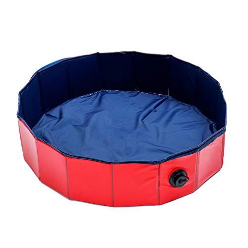 Decoración portátil para mascotas, baño de perro, piscina, plegable, 80 x 20 cm