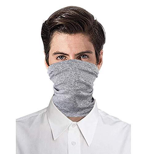 Vafoly Schal Bandanas Halstuch mit Sicherheitskohlefilter, Mehrzweck-Gesichtsabdeckung für Männer und Frauen, Sport/Outdoor, 12 Stück,Grau