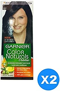 Garnier Color Naturals Crème Twin Pack, 1 Black,110 ml