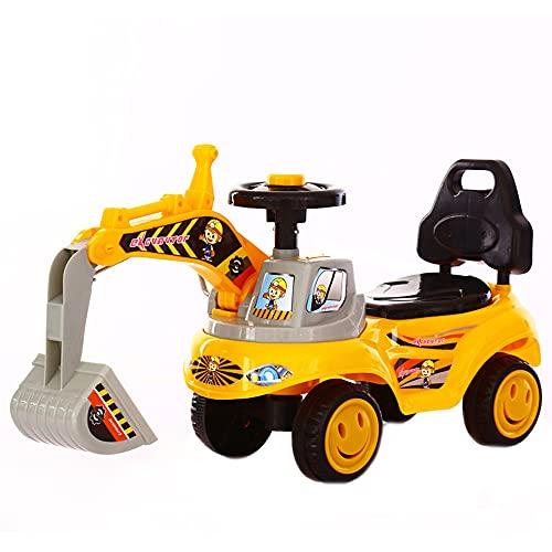 ADISVOT La Excavadora Puede Viajar en un Scooter Excavadora montable para niños, Juego de simulación, camión de construcción para niños y niñas / 21 Pulgadas