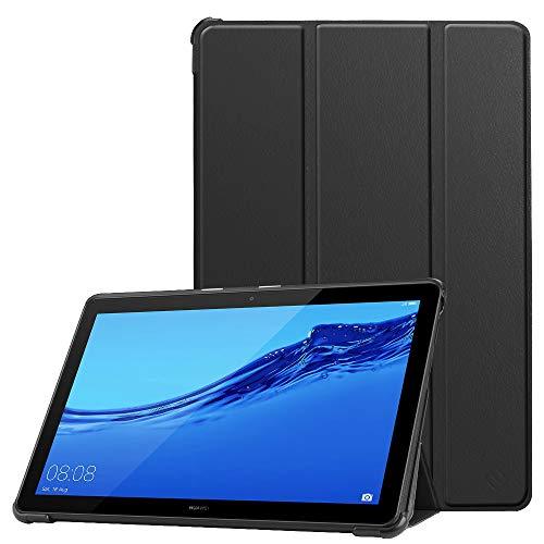 Fintie Hülle Hülle für Huawei MediaPad T5 10 - Ultra Dünn Superleicht Flip Schutzhülle mit Zwei Einstellbarem Standfunktion für Huawei MediaPad T5 10 10.1 Zoll 2018 Tablet PC,Schwarz