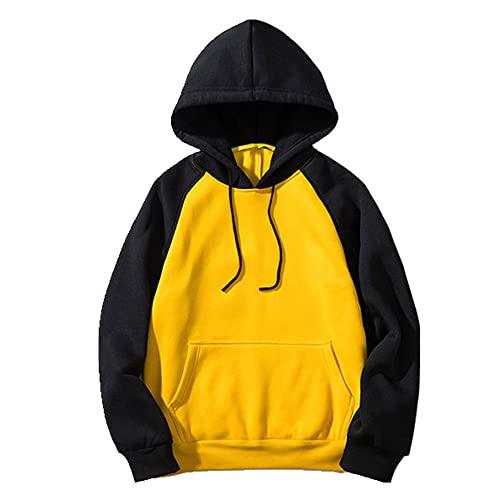 sombrero suéter abrigo primavera sudadera con capucha, amarillo, M