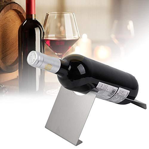 Soporte para botellas de vino, botellero, acero inoxidable práctico para oficina en casa