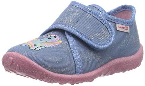 Superfit Baby Mädchen Spotty Hausschuh, Blau (Hellblau 85), 21 EU