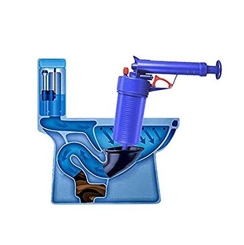 Desatascador profesional de drenaje Potente desatascador Manual de Alta presión con aire...