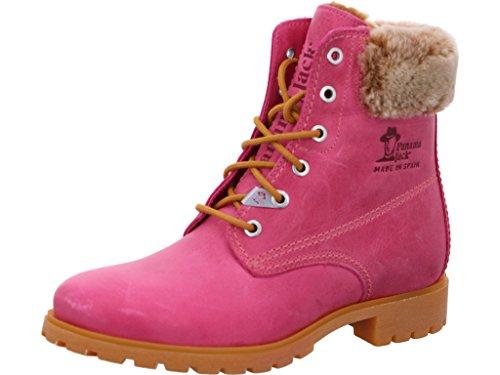 Panama Jack Damenschuhe Panama 03 Colours B31 Modische Damen Stiefel, Schnürstiefel, Boots, Stiefelette, herausnehmbare Einlegesohle Pink (Fuchsia), EU 41