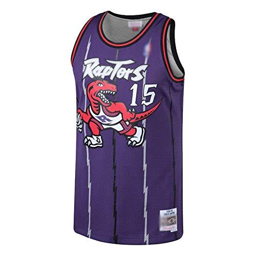 Camiseta de baloncesto al aire libre NO.15 Carter Jersey Transpirable Sudadera Para Hombres Púrpura