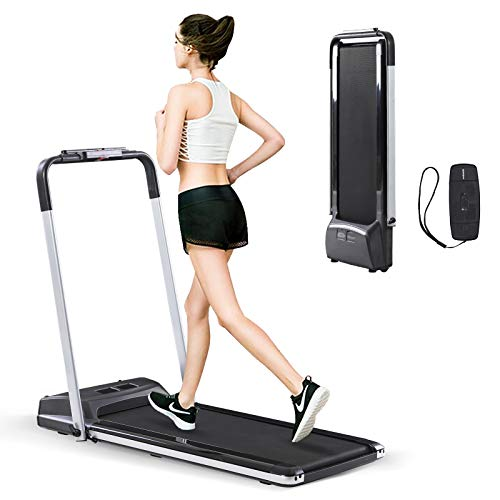 powerful Estley's 2-in-1 foldable treadmill (under the table), smart walk jogging trainer, dual LCD display, …