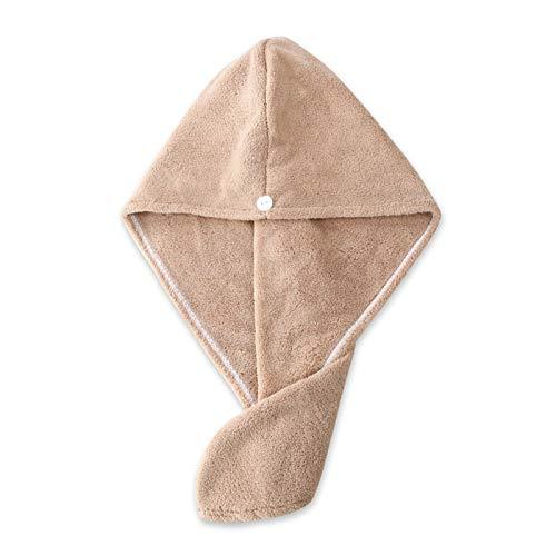 Cap seco de pelo del turbante de toalla de secado rápido del pelo del sombrero de la muchacha de secado del pelo del sombrero del sombrero del baño de microfibra toalla gorra en el Super Absorción