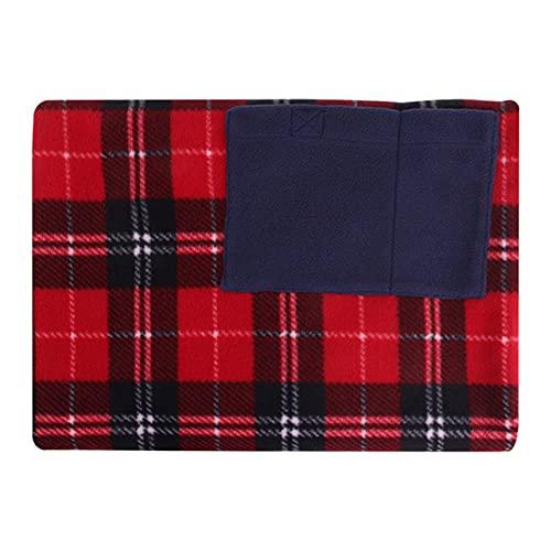 OKAYOU 暖房毛布ポータブルUSB多機能電気暖房毛布赤い格子車のオフィスマットヒーターポリエステル生地パッド