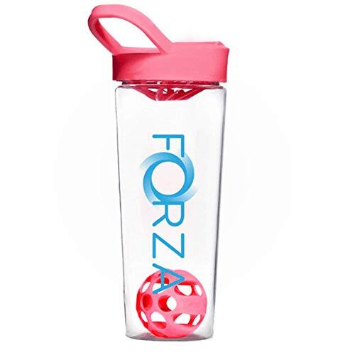 FORZA FITNESS Shaker Mixball - Avec boule de mixage pour substituts de repas, sachets hyperprotéinés - 700ml – Rose