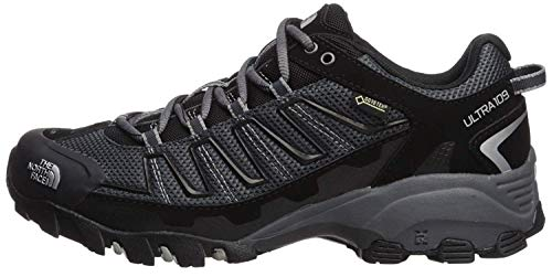 The North Face Mens Ultra 110 Gore Tex Trail Hiking Walking Sneakers (Black/Dark Shadow Gray, Numeric_9_Point_5)