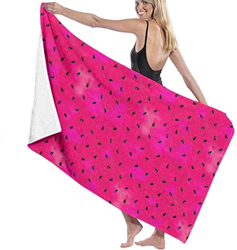 Thusjh Beach Towel Summer Watermelon Seeds Soft And Funny For Swimming Bath Towel Microfiber Men And Women Lightweight And Quick-Drying Towel For Travel,Camping,Gym,Beach,Yoga
