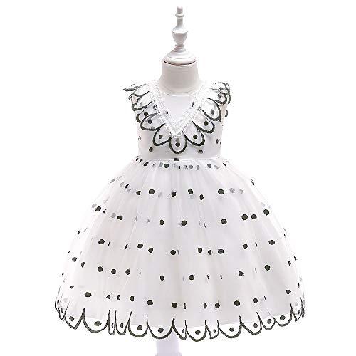 Bloemenmeisjes jurk dag casual jurk prinses jurk leuke baby-borduurwerk bloemenkant pettiskirt jurk mouwloos polka punt-boog verjaardag party-jurk kinderdansfeestjurk baljurk meisje