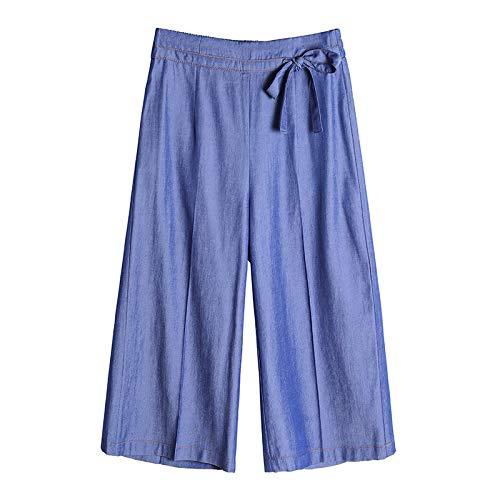 Luandge Pantalone da Donna Comodo per Il Taglio dello Stivale Tempo Libero Quotidiano Elasticizzato Elasticizzato Pantaloni Larghi con Coulisse Medium