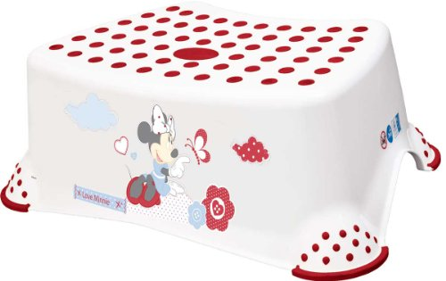 "keeeper 18431100047 tomek ""minnie mouse"" tritthocker mit anti-rutsch-funktion weiß"