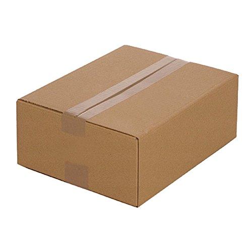 100 Faltkartons 320 x 250 x 120 mm, Verpackung Versand Schachtel aus Wellpappe Karton Kiste Postversand