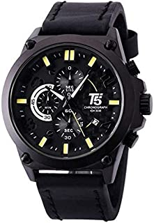 T5 H3479G-B Analog Leather Watch for Men