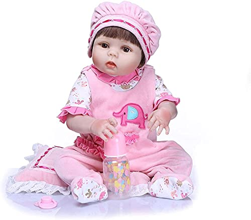 Muñeca Reborn, muñecas realistas, muñeca de Renacimiento, niña de 56 cm, bebés realistas Que recaen, Vinilo de Silicona, recién Nacido para 3 años en adelante, Juguetes