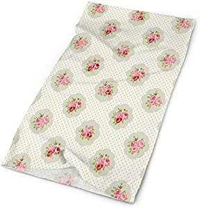Magic Headwear Outdoor Scarf Headbands Bandana,Polka Dotted Background With Romantic English Roses Love And Affection,Mask Neck Gaiter Head Wrap Mask Sweatband
