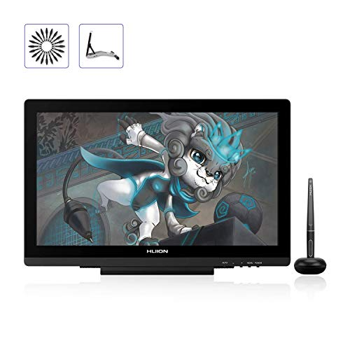 HUION KAMVAS 20 Graphics Drawing Monitor 19.5inch Pen Display Tablet with Battery-Free Stylus 8192 Pressure Sensitivity Tilt, Stand Included