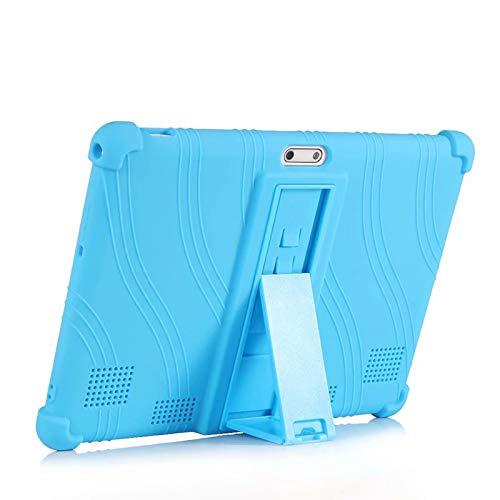 QYiD Funda para VANKYO MatrixPad S30 10 Pulgadas Tablet, Funda de Silicona Suave a Prueba de Golpes Protectora Cubrir Funda para 10 Pulgadas MatrixPad S30, LightAzul