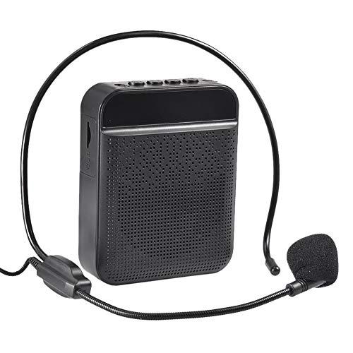 Dewdropy Bluetooth Voice Amplifier Speaker Waterproof, Wireless Microphone Headset Amplifier Portable Megaphone Loudspeaker for Outdoor, Teachers, Classroom, Elderly, Tour Guide, Presentation Etc