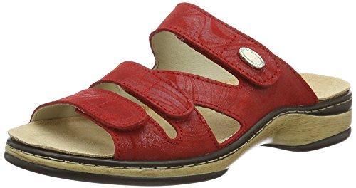 Weeger-Orthopädische-Pantolette mit auswechselbarem Fußbett rot Gr. 38