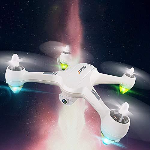 Wckxy Avión de Control Remoto, conexión Wi-Fi GPS en Tiempo Real sin escobillas FPV Drone 2.4 GHz RC helicóptero con cámaras 1080P, Mando a Distancia, la luz, el Modo altitud, vuelva al Inicio