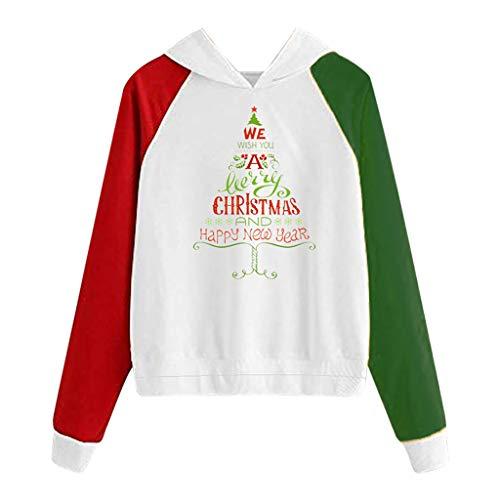 Fairy Costume Damen Kapuzenpullover, Hoodie Sweatshirt Weihnachten Weihnachtsmann Drucken Hoodies Pullover Lässige Mode Lustige Kapuzenpullover Tops Kleidung