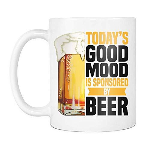 N\A El Buen Humor de Hoy está patrocinado por la Jarra de Cerveza, Las Tazas de café de cerámica del día de la Cerveza Que Dicen Blanco,