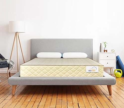 Medisleep Breeze Mattress Organic Pin core Latex and HIgh Resilience Support (75 * 72 * 5 Inches_Foam)