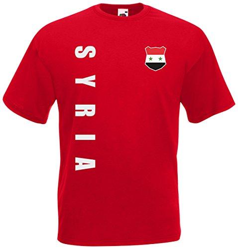 Syrien Syria WM-2022 T-Shirt Trikot Wunschname Nummer Rot S