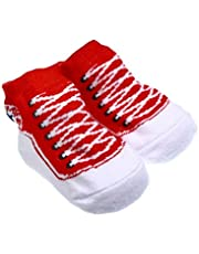 Anti Slip Calcetines de algodón Calcetines de los Deslizadores de los Zapatos de 0-6 con agarres Mes bebé recién Nacido niñas