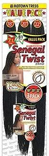 Motown Tress (Crochet Senegal Twist Braid 22m) - Kanekalon Braiding Hair in Silver