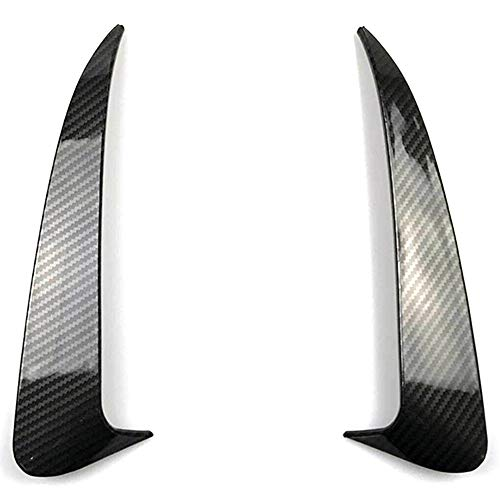ZHANGJN Cubierta de Spoiler, para Benz C Class W205 C43 C63 AMG Fiber DE Carbono Fiber BULS Trasero DE VENTILACIÓN DE Air DE Air 2014-2019 2PCS