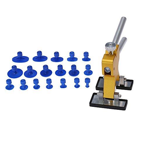 KKmoon Kit de Herramientas para Reparación de Abolladuras Coche - Tirador del Pegamento del Levantador + 18 pestañas