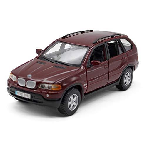 1:24 Die-Cast-Auto-Modell/Kompatibel mit BMW X5 / Simulation Legierung Modell Auto SUV Static Model Car können Sie for Ausstellung Auflistung verwendet Werden (Color : Red, Size : 18.5cm*9cm*7cm)