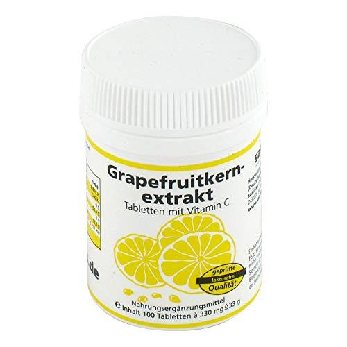 Grapefruitkernextrakt – Nahrungsergänzungsmittel mit Vitamin C – 100 Tabletten