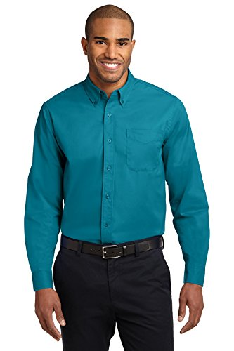 Port Authority Long Sleeve Easy Care Shirt, Teal Green, Large