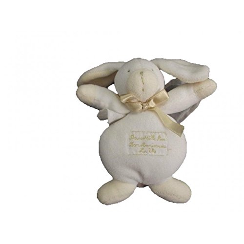 Moulin Roty - Doudou Moulin Roty lapin mouton 2 Milles ans bon anniversaire hochet - 84