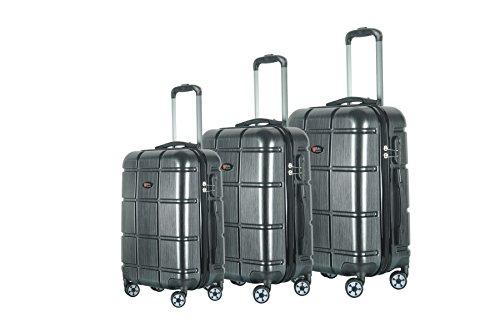 Brio Luggage ABS Hardside Luggage 3 Piece Set - Black