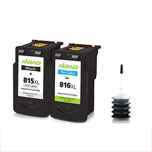 Adecuado para CANON PG815 Cartucho CL816 Cartucho, IP2780 IP2788 MP259 236 280 288 288 288 288 MX368 El cartucho de impresora puede agregar tinta a XL para aumentar 2-set