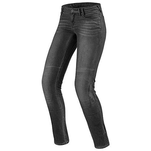 REV'IT! Motorrad Jeans Motorradhose Motorradjeans Westwood SF Damen Jeanshose grau Used 30/32, Chopper/Cruiser, Ganzjährig, Textil