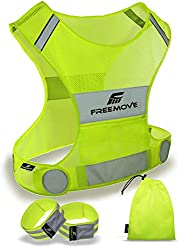 Freemove Reflective Vest, Best Safety Gear for Runners, Safety Equipment for Runners, Running Safety Equipment, Running Safety Gear