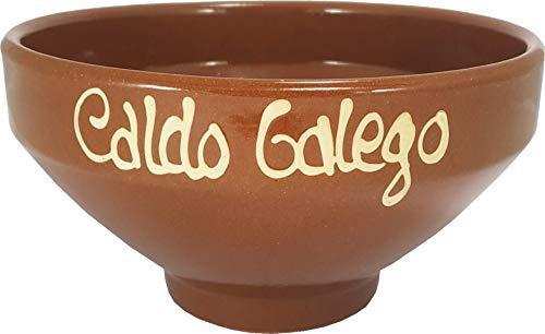 Pack de 6 Taza Barro Caldo Gallego Galicia artesanía Caldo Barro