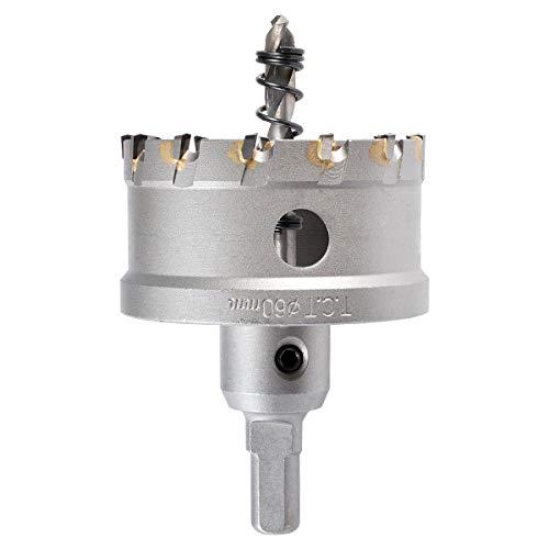 KATUR 60mm Hartmetallbestückter Zahnlochschneider, TCT-Bohrer-Lochsägen-Set für Edelstahl, Blech, Metall (60mm)