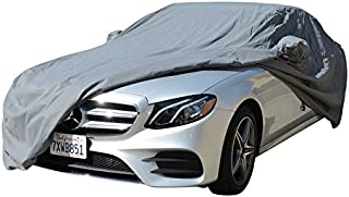 CAR COVER Chrysler 200 Sedan Coupe Convertible 2011 2012 2013 2014 2015 Car Accessories, Indoor Outdoor Protection Dust Cover Vehicle Accessories with Pocket Mirror (Space Gray)